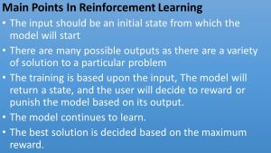 Reinforcement Learning Points